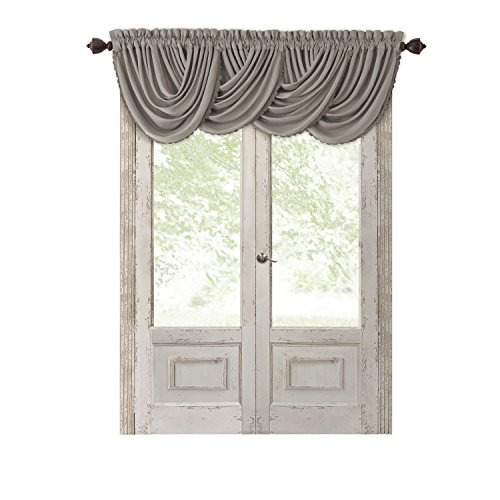 (Elrene Home Fashions All All Seasons Blackout Energy Efficient Room Darkening Rod Pocket Window Curtain Drape Regal Solid Valance, 52