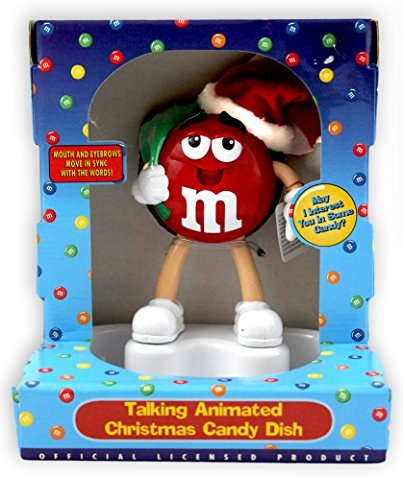 M & M Talking Animated Christmas Candy Dish
