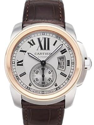 Cartier Calibre De Cartier Silver Dial Mechanical Wind Mens Watch W7100039