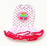 SMALLLEE_LUCKY_STORE Cherry Dots Princess Tutu Dress, X-Large