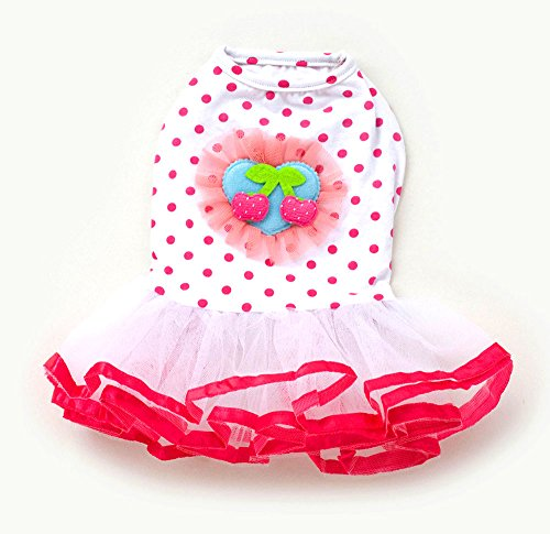 SMALLLEE_LUCKY_STORE Cherry Dots Princess Tutu Dress, X-Large