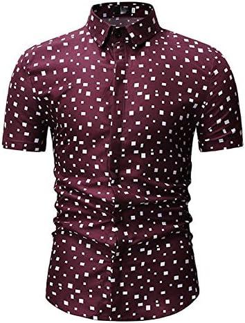 Geometric Print IYFBXl Mens Shirt