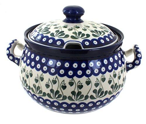 Blue Rose Polish Pottery Alyce Soup Tureen