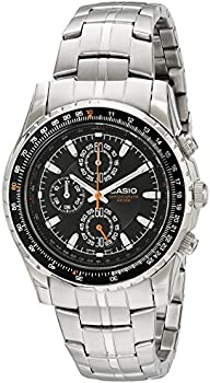 Casio Slide Rule Bezel Aviator Men's Stainless Steel Watch