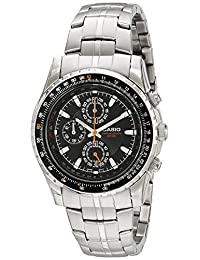 Casio Men's MTP4500D-1AV Slide Rule Bezel Analog Chronograph Aviator Watch