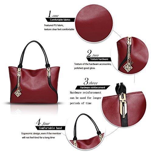 nuovo signora sacchetto della Il delle spalla sacchetto del di tendenza spalla di raccoglitore del di borsa spalla donne Rosso di di modo molle della donne Sdinaz sacchetto del qAC55