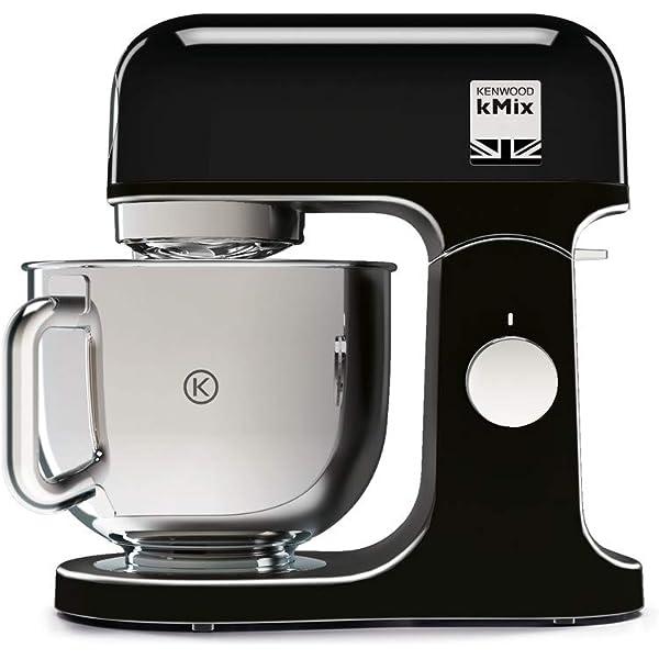Kenwood kMix KMX75AB - Robot de Cocina Multifunción, 1000 W, Bol Metálico de 5 L con Asa, Gancho para Amasar, Varillas, Mezclado K, Acero Inoxidable, 6 Velocidades, Color Negro: Amazon.es: Hogar