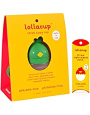 Lollaland Weighted Straw Sippy Cup for Baby: Lollacup - Transition Kids, Infant & Toddler Sippy Cup (6 months - 9 months)   Shark Tank Products   Lollacup (Green) w/ Straw Replacement Pack