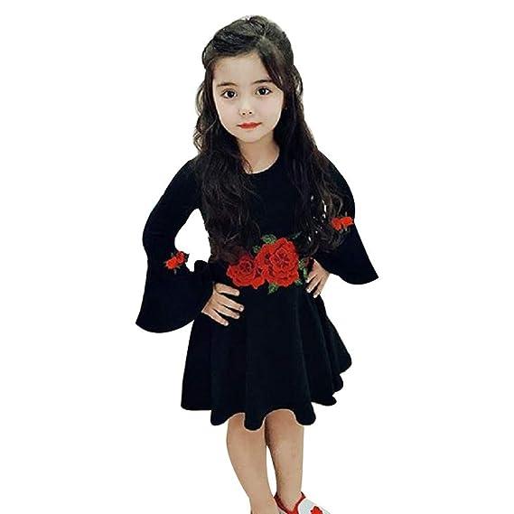 ASHOP Vestido Mangas Larga con Estampado Otoño de para Fiesta De Cosplay Ropa Bebe niña de