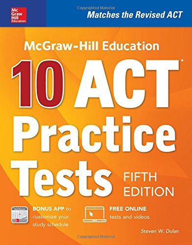 Mcgraw Hill Education  10 Act Practice Tests  Fifth Edition  Mcgraw Hills 10 Act Practice Tests