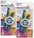 Munchkin Click Lock Replacement Straws, Blue/Orange, 4-Count