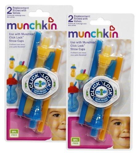 Munchkin Replacement Straws Orange 4 Count