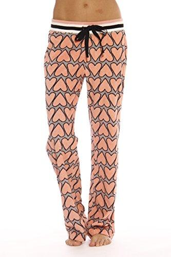 CS601080-12-L Christian Siriano New York Pajama Pants for Women/Pajamas, Heart, (Pattern Cotton Sleep Pants)
