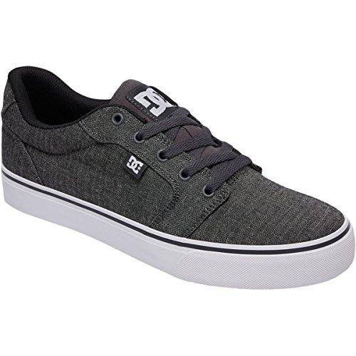 DC Men's Anvil Tx Skate Shoe, Dark Grey/White, 12 D US