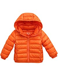 Baby Boys Girls Kids' Outerwear Ultra Light Down Jacket With Removable Hood