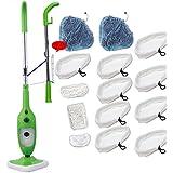 goLEDgo Steam Mop X5 Machine New - Green (Green Developed Mop Machine+14pcs fiber Mop worth 40us$)