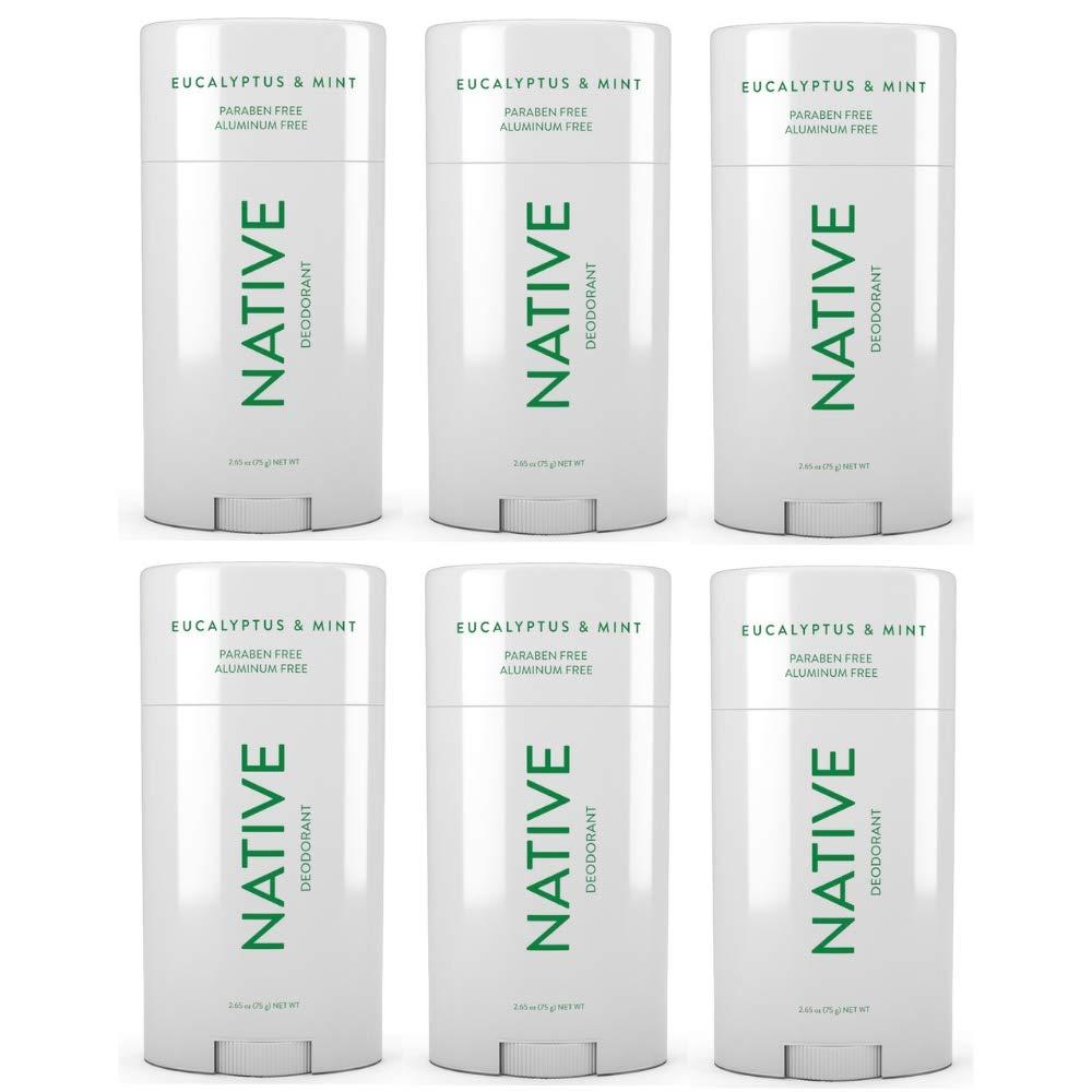 Native Deodorant Eucalyptus & Mint 2.65oz (6 pack)