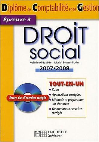 Livres Droit social DCG Epreuve 3 (1Cédérom) pdf
