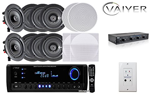 Vaiykerkits Home Theater Bundle: (8) In-Wall/In-Ceiling 5.25