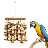 SODIAL Bird Chewing Toy Large Medium Parrot Cage Bite Toys African Grey Macaws Cockatoos Eclectus