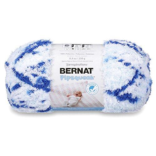 - Bernat Pipsqueak Big Ball Yarn, 8.8 oz, Gauge 5 Bulky, Blue Jean Swirl