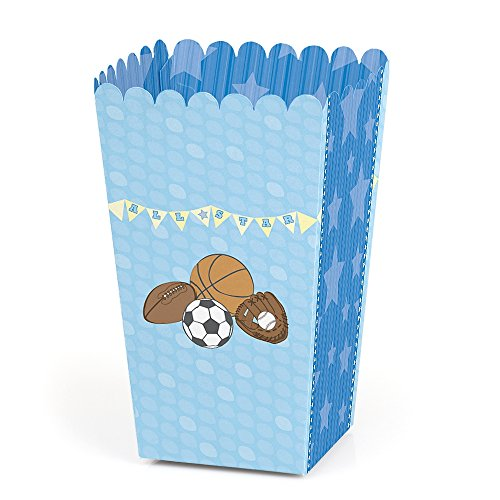 All Star Sports Toy Box - All Star Sports - Baby Shower or Birthday Favor Popcorn Treat Boxes - Set of 12