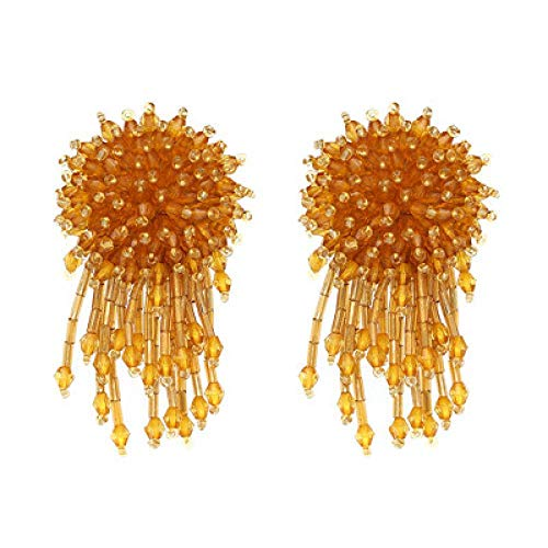 Whawhodp Bijoux Elegant Tassel Statement Earrings for Women Charm - Champagne Bijoux