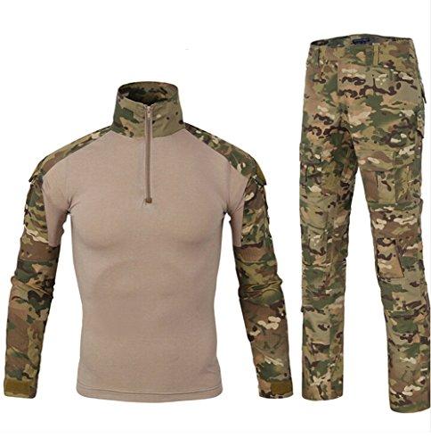 Multicam Combat Uniform (BE DREAMER Military BDU Uniform Tactical Combat Training Suit,Multicam,L)