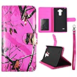 Wallet Camo Pink Mozi For LG Stylus H631 Synthetic Leather Wallet Flip ID Pouch Credit Card Holder Case Cover Phone Case Snap on Sheild Protector Cover