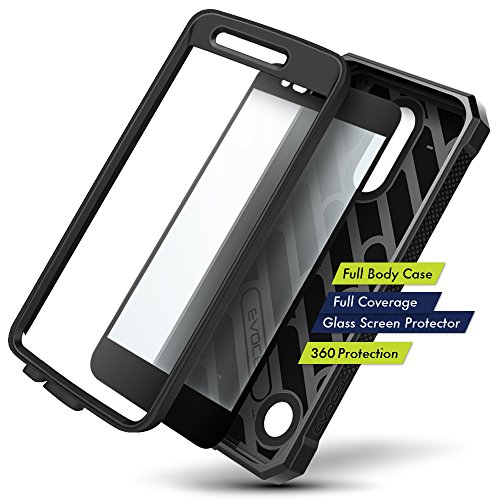 LG K20 Plus Case, Evocel [Explorer Series] with FREE [LG K20 Plus Glass Screen Protector] Premium Full Body Case [Slim Profile][Rugged Belt Clip Holster] For LG K20 Plus / K20 V / LG Harmony, Black by Evocel (Image #1)