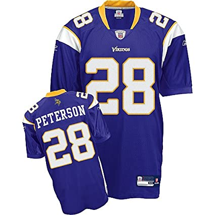 buy popular 8f6f2 5fb46 Amazon.com: ADRIAN PETERSON PURPLE MINNESOTA VIKINGS REEBOK ...