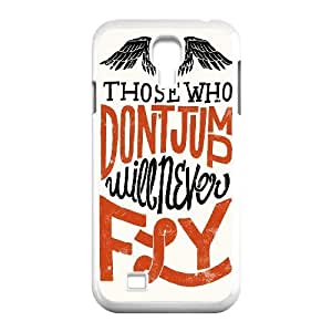 Yearinspace Typography Samsung Galaxy S4 Cases Typography Those Who Don't Jump Will Never Fly Protective Cute For Girls, Phone Case For Samsung Galaxy S4 Mini, [White]