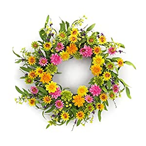 Melrose International, LLC Spring Floral Zinnia Wreath 59