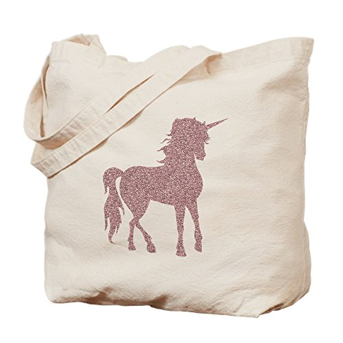 CafePress - Pink Unicorn - Natural Canvas Tote Bag, Cloth Shopping Bag