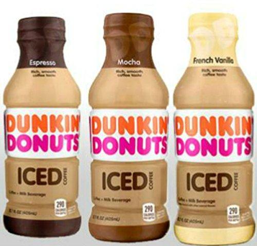 Dunkin' Donuts Bottled Ice Coffee (3 Flavor Sampler Pack