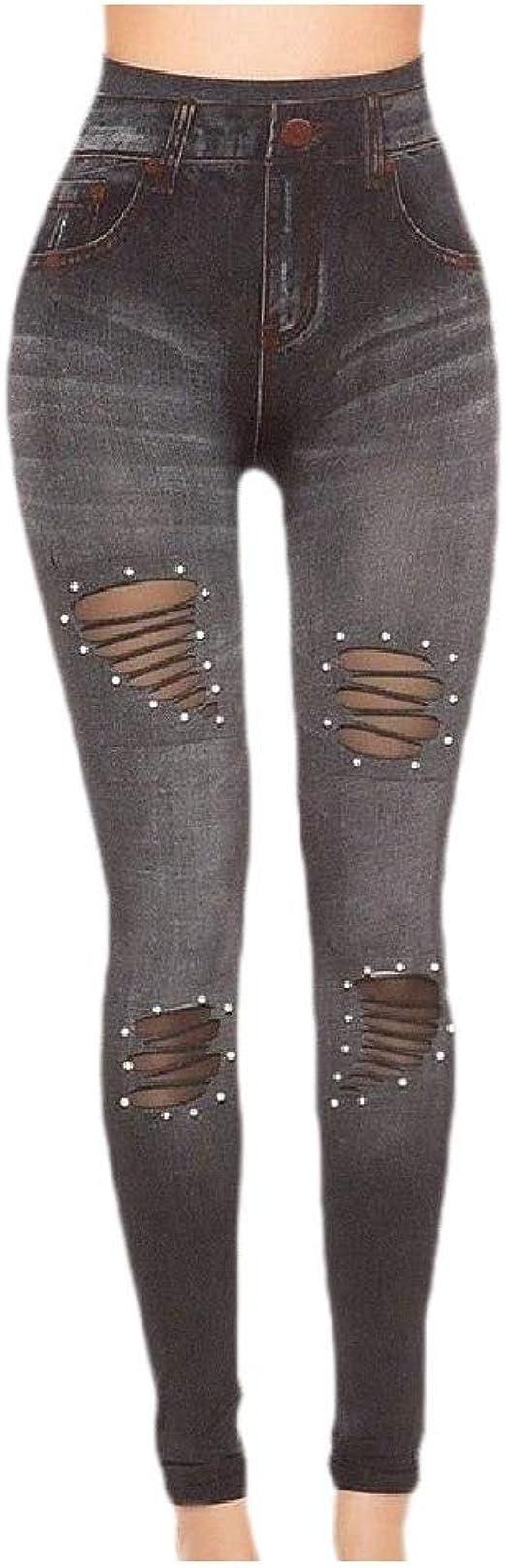 AngelSpace Womens Skinny Skinny Pencil Pants Elastic Hip-uP Jeggings