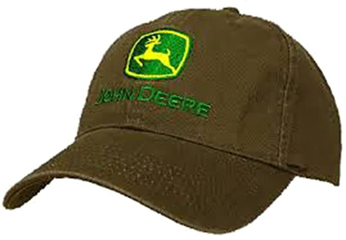 Amazon John Deere Embroidered Trademark Logo Brown Hat Clothing