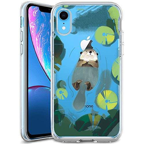 - Sea Otter Lotus iPhone Xr Case iPhone Xr Cover Crystal Rubber Gel Shock-Absorption Bumper Anti-Scratch Back Silicone for iPhone Xr