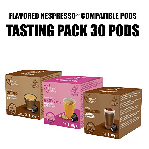 Flavored drinks capsules, Nespresso compatible pods, by Italian Coffee (Ginseng, 120): Amazon.com: Grocery & Gourmet Food