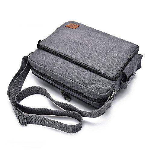 YUHAN MJH1092C - Bolso al hombro para hombre azul-negro 25 cm gris