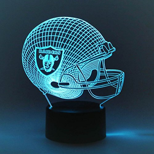 Oakland Raiders Light - SYlive LED Colorful Touch 3D Visual Light - Rugby Team Oakland Raiders