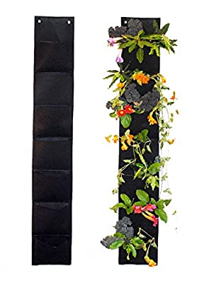 7 Pocket Vertical Garden Hanging Planter By Ambitious Walnut. 5 Ft Long. Eco-friendly and a Great Gift for Gardeners From Aspiring to Experienced. Satisfaction Guaranteed