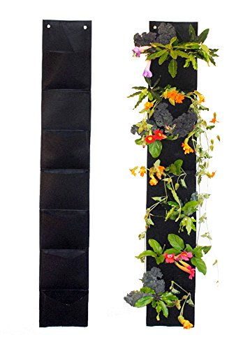Ambitious Walnut 7 Pocket Vertical Garden Hanging Planter 5 Ft Long. Eco-Friendly and a Great Gift for Gardeners from Aspiring to Experienced.