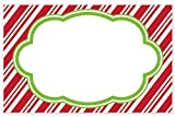 Pack Of 50, Candy Cane Stripe No Sentiment Enclosure Cards Made In USA
