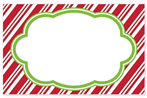 Pack Of 50, Candy Cane Stripe No Sentiment Enclosure Cards Made In USA by Generic