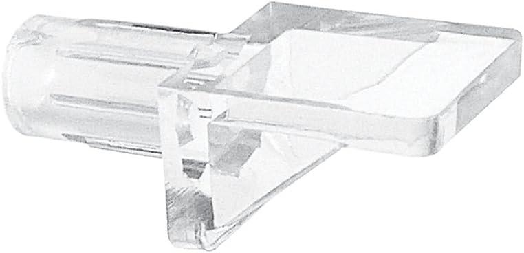 Prime-Line Products U 10005 Mini Shelf Support Peg, 5mm, Clear Plastic,(Pack of 12)