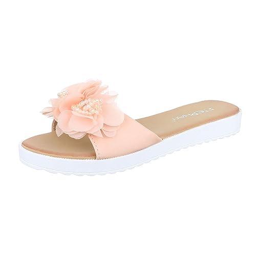 Pantoletten Damen Schuhe Jazz & Modern Leichte Ital-Design Sandalen / Sandaletten