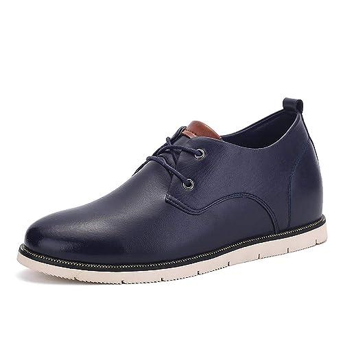 d7461e2f6df HILOTU Zapatos Oxford para Hombres Zapatos Planos Casuales Estilo Británico  Clásico Aumento de la Altura Plantilla Zapatos Formales Mocasines   Amazon.es  ...