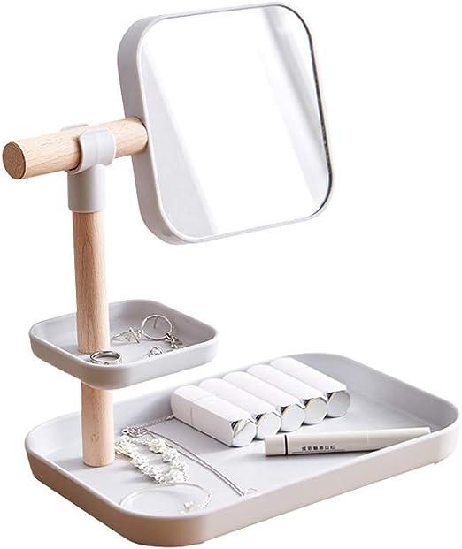 Caja de Almacenamiento de cosméticos Espejo de Maquillaje Simple ...