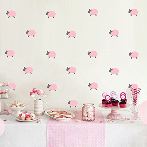 KoalaBear Brand Wall Decals Lambs Wall Peel & Stick Removable Mini Sticker For Girl's Bedroom/Playroom/Nursery, 27 PCS ()